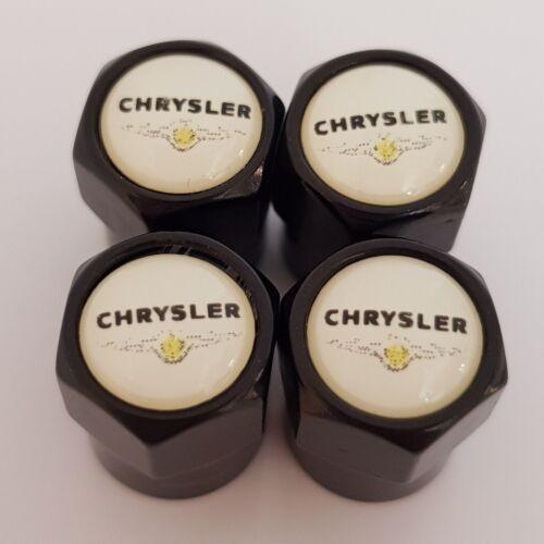 Chrysler Plástico Negro Coche Válvula Casquillos de polvo de Rueda de Aleación todos los modelos Antiadherente PT