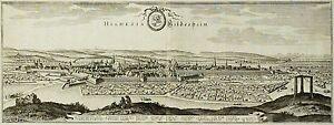 HILDESHEIM-GESAMTANSICHT-Merian-Kupferstich-1653