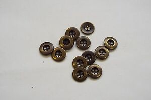 10pc-12mm-Antique-Gold-Brass-Metal-Shirt-Blouse-Cardigan-Knitwear-Button-3344
