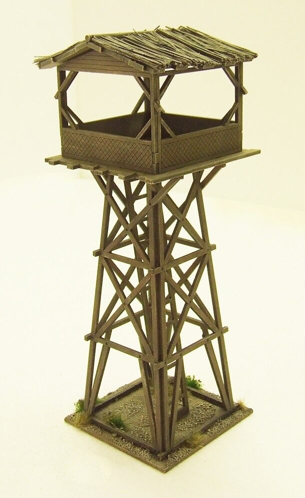 VIETNAM 'WATCH TOWER'  15mm  ASSEMBLED MDF & PAINTED TO COLLECTOR'S STANDARD