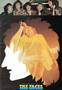 THE FACES 1974 TOUR CONCERT PROGRAM BOOK BOOKLET-ROD STEWART-RON WOOD-EX TO MINT