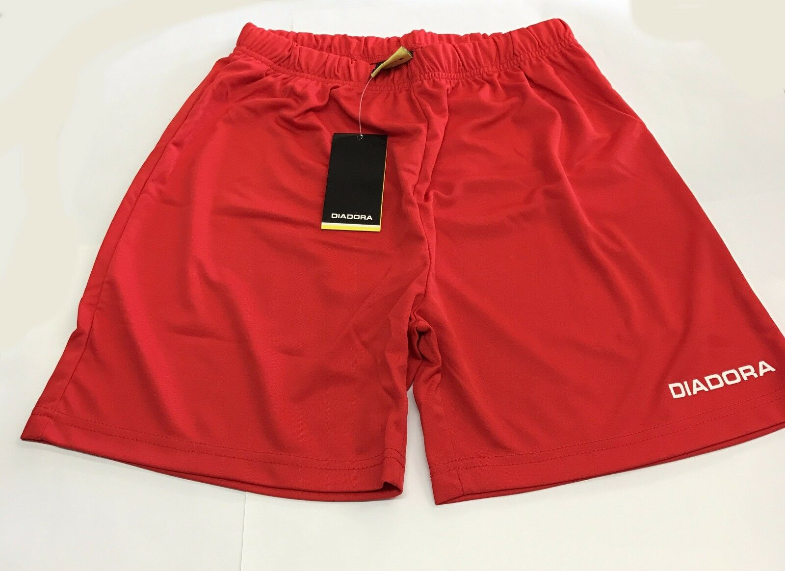 SET (12) DIADORA FOOTBALL SHORTS XL BOYS  RRP  - RED  Free Postage