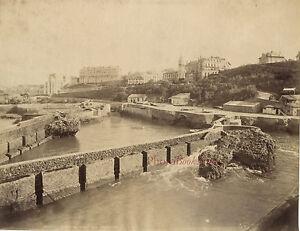 Biarritz-Francia-Porto-Pescatori-Vintage-Albumina-Ca-1880
