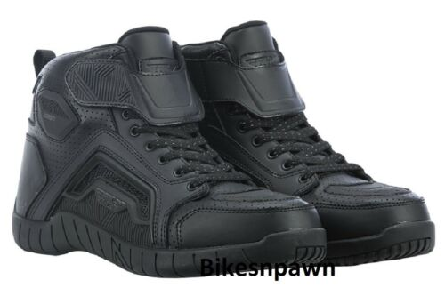 New Size 11 Mens FLY Racing M21 Black Leather Motorcycle Street Riding Shoe