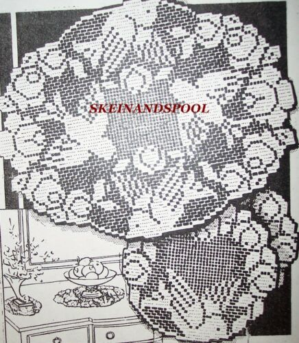 6048 Vintage Filet BIRDS//ROSES DOILIES Pattern to Crochet Reproduction