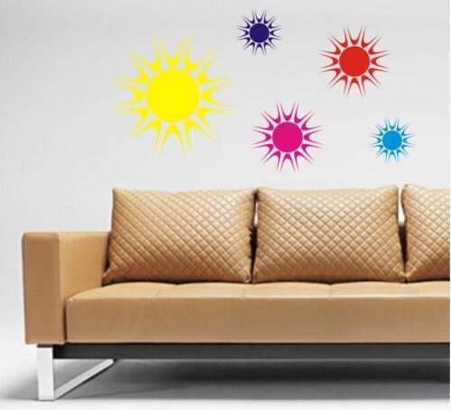 BRIGHT SUN Stickers LOUNGE BEDROOM WALL X 5 Wall Art CAMPER CARAVAN OUTSIDETHANK