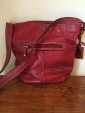 Super cute Tiganello red purse bucket style  handbag
