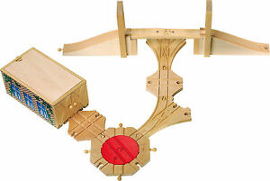 Small-Foot-Design-4706-Wooden-Railway-Accessories-Set-Free-Tracked-48-UK-Post