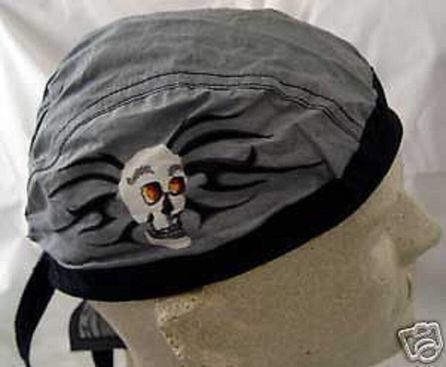 Grau Schwarz Tribal Totenkopf Biker Angepasst Gebunden Baumwolle Halstuch Do Doo