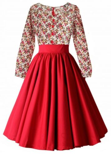 I-CURVES ladies vintage floral 50/'s 60/'s cocktail retro rockabilly swing dress