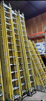 16ft and 28ft Fiberglass Extendable Ladders in Great Condition