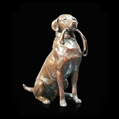 924 Lead Solid Bronze Foundry Cast Sculpture Michael Simpson Medium Labrador