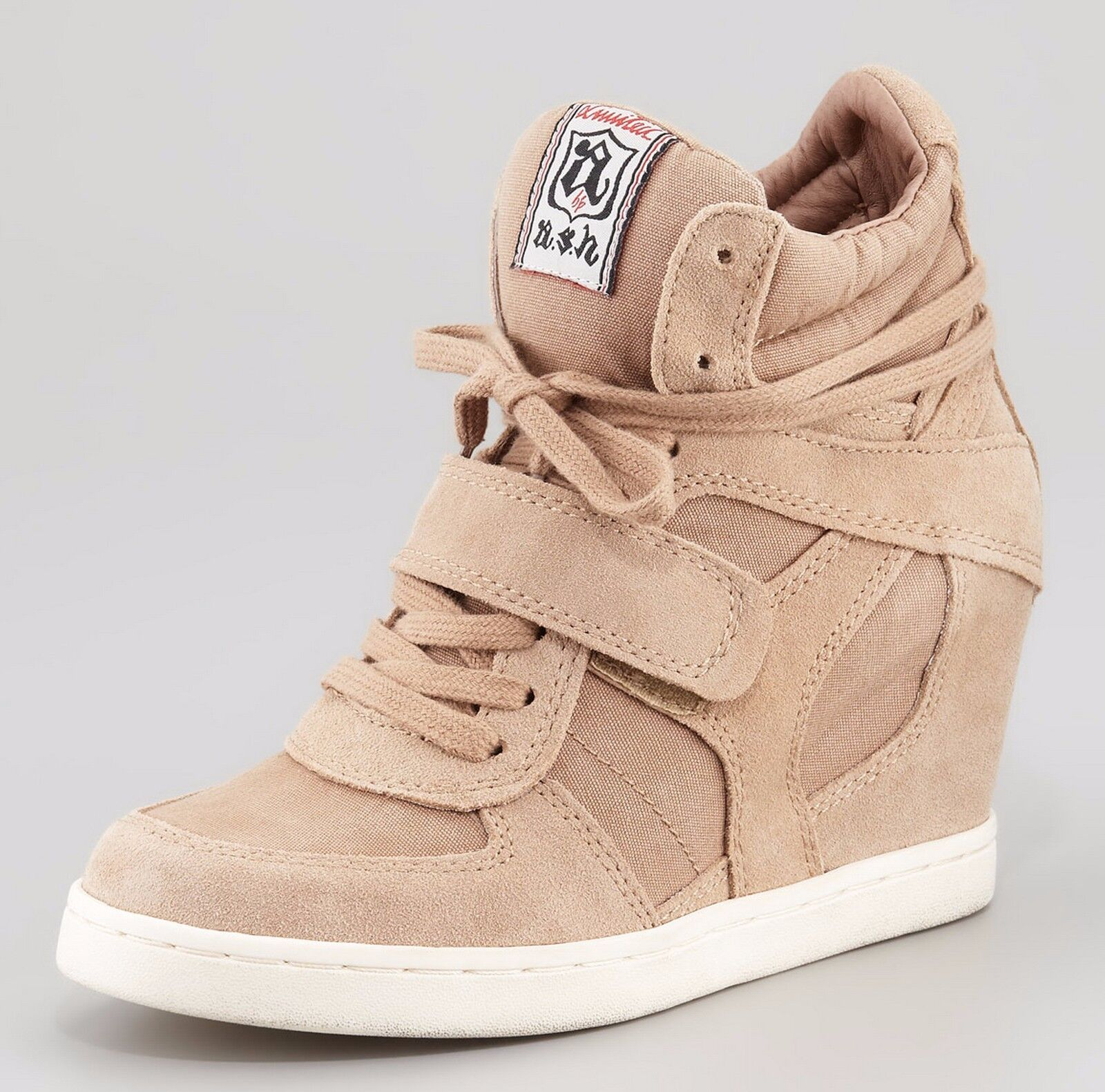 **CLEARANCE** NIB Ash COOL Suede Canvas Wedge Sneakers Shoes, CHAMOIS,