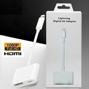 1080P USB to Digital AV TV HDMI Adapter Cable For iPad Air Apple iPhone Xr 12 11