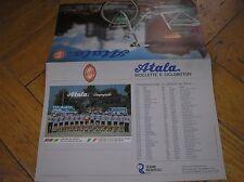 ATALA  BROCHURE BICICLETTE PIEGHEVOLI 1991 CON TEAM SQUADRA CICLISMO CYCLING