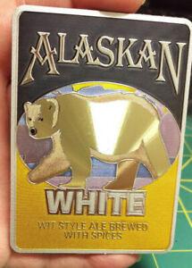 Alaska-Magnet-Alaskan-White-WIT-style-Ale-Foil-Polar-Bear-Magnet-Nice