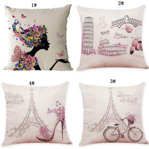 Pink-Series-Cartoon-Tower-Pillowcase-Linen-Sofa-Decorative-Cushion-Cover