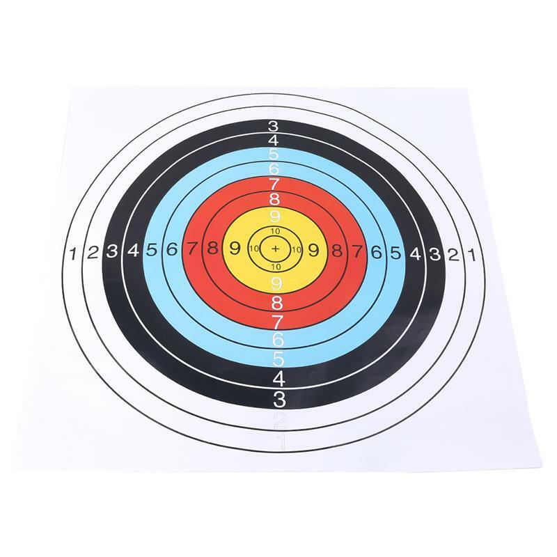 Archery Target Paper Face 40x40cm For Arrow Bow Shooting Hunting Practice Tool