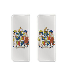 2x EU Blue Background Gel Domed Number Plate Badges//Decals 107x42mm