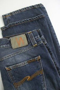 RRP-107-NUDIE-EASY-EMIL-BLUE-FALL-Men-039-s-W34-L36-Distressed-details-Jeans-4421-mm