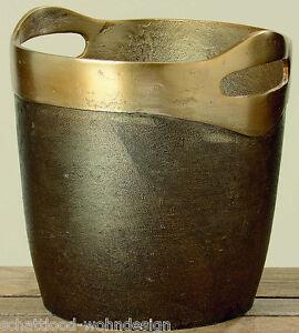CHAMPANERA-Oro-Antiguo-Enfriador-de-vino-Cubo-hielo-Aluminio-Metal-Al-24