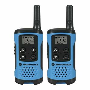 4pk Best Walkie Talkie for Kids Talkabout Motorola Family Radio T100 Blue