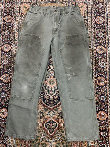 Vtg Carhartt Double Knee Work Pants Size 31x30 Wor
