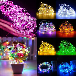 50-100-LED-BATTERY-MICRO-RICE-WIRE-COPPER-FAIRY-STRINGS-LIGHTS-CHRISTMAS-PARTY
