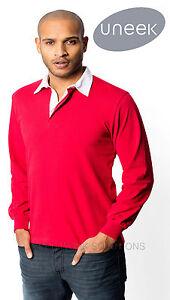 Uneek-UC402-Premium-Quality-Classic-Rugby-Polo-Shirt-100-Premium-Cotton