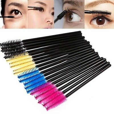 50PCS Disposable Eyelash Brush Mascara Wands Applicator Makeup Cosmetic Tool