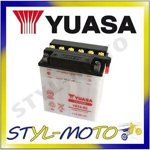 YB14L-B2 BATTERIA ORIGINALE YUASA AD ACIDO SUZUKI GSX 1100F 1992