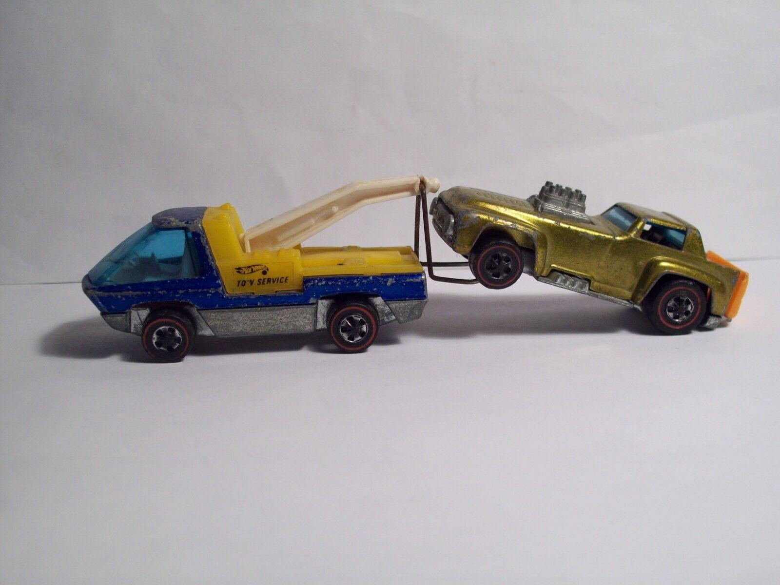 Original 1969 Hot Wheels  rotline   The Heavy Weights Tow Truck   Rare Blau