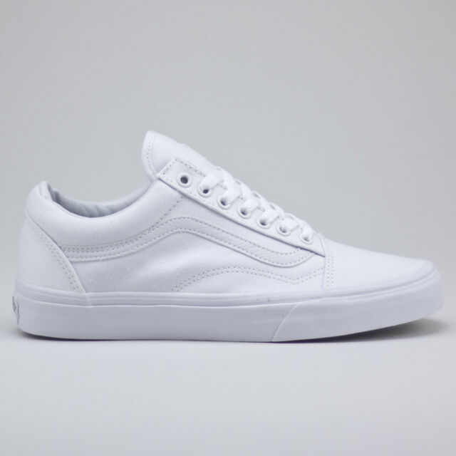 Vans Old Skool True White Trainers Shoes New in box UK Size 4,5,6,7,8,9,10,11,12