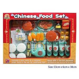 Chinese Dinner Set International Food Kids Toy Ethnic Pretend Play Kitchen Ebay