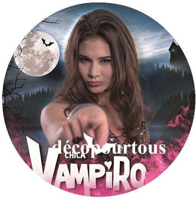 disque azyme chica vampiro 20 cm pour gateaux , enfant