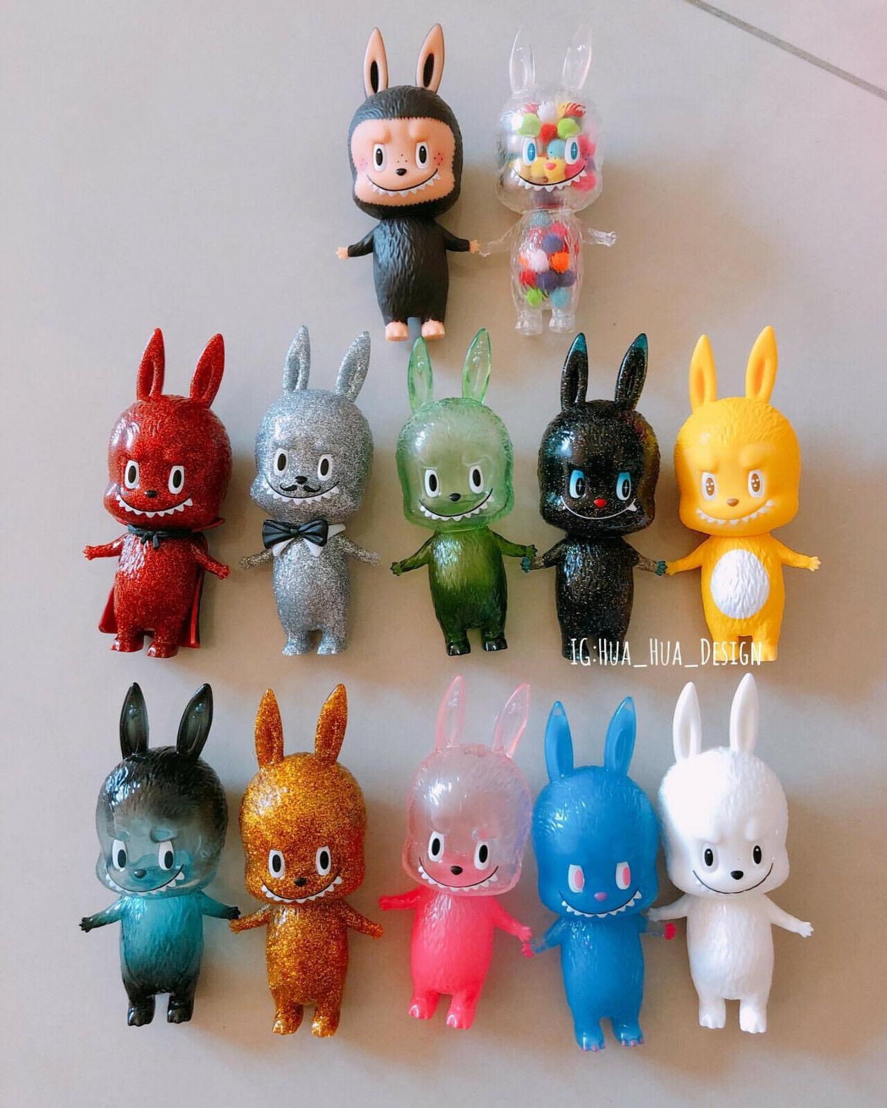 Labubu los pequeños monstruos Kasing Sofubi Mini Figura Serie 2 Conjunto de 12