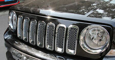 Chrome Front  Mesh Grill Insert Trim Cover For Jeep Patriot 2011-2016