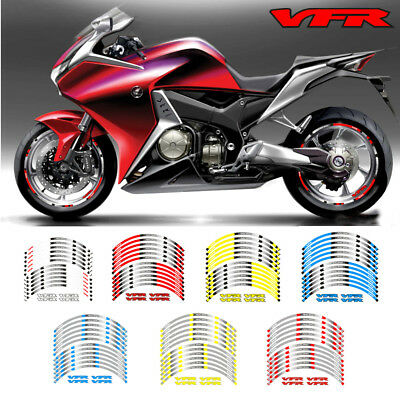 """FIT FOR HONDA Hornet MOTORCYCLE RIM /""""17 STRIPES WHEEL DECALS TAPE STICKERS"""