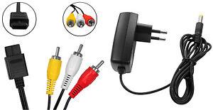 Super-Nintendo-AV-Cinch-Kabel-Netzteil-AC-Adapter-Stromkabel-fuer-SNES