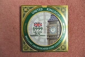 ROYAL MINT 1999 DELUXE PROOF 9 COIN SET LAST COINS OF THE TWENTIETH CENTURY UK