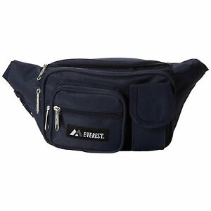 d0b5a8d04024 Details about Everest Multiple Pocket Waist Pack - Navy