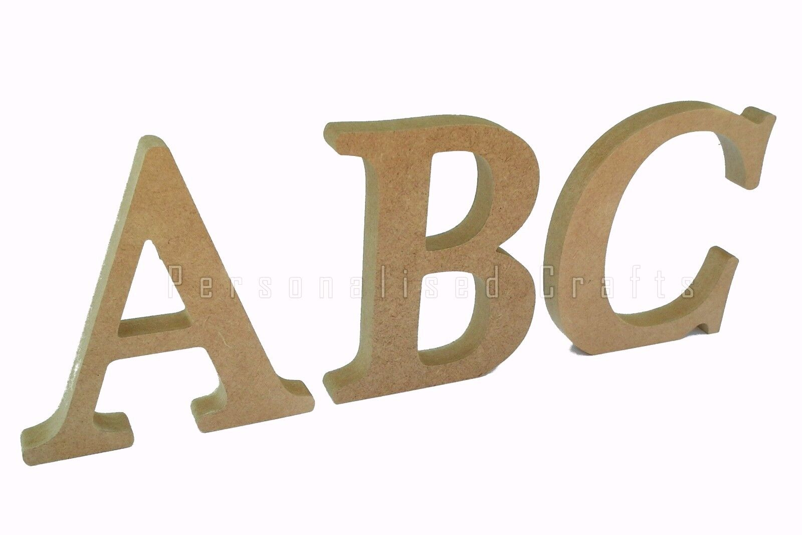 free standing wooden mdf letters 18mm thick 150mm 15cm high from 120