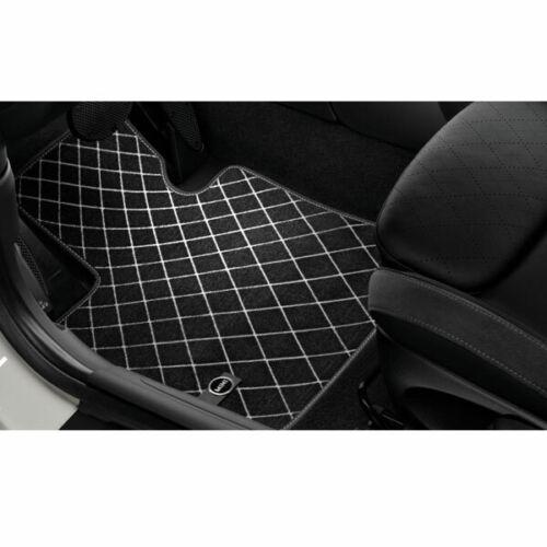 Genuine Front Black Carpet Floor Mats Set for Mini F55 F56 F57 Cooper Base S JCW