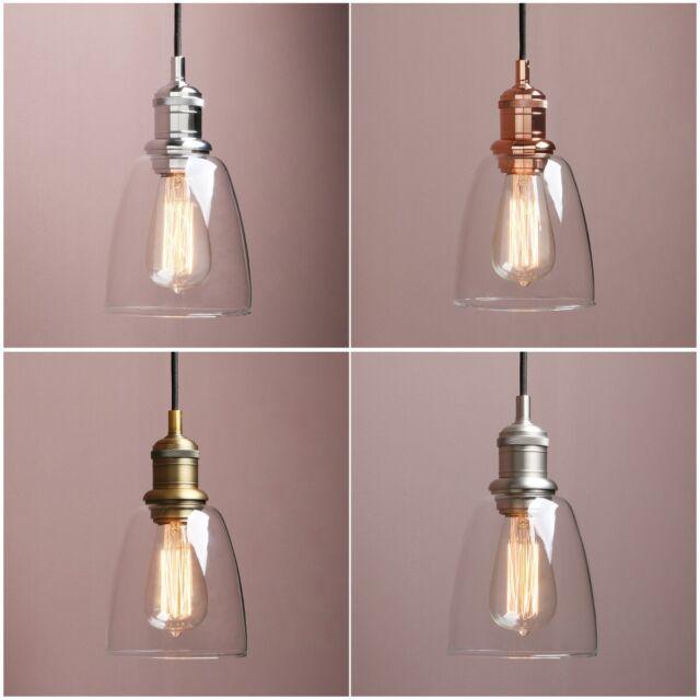 Amber Gl Lamp Shade Light Chrome