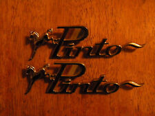 LOT of 2 Emblems Nameplates Badges VINTAGE CAR PARTS FORD PINTO HOT ROD VEHICLE
