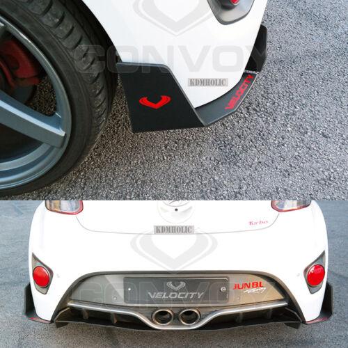 2pcs for Hyundai Veloster Turbo Velocity Rear Cup Wing Splitters Matte Black