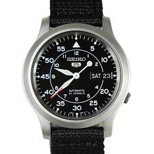 Seiko 5 Military SNK809 K2 Automatic Black Dial Nylon Strap Watch Meet ups Ship