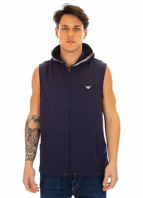 Forceful Emporio Armani Sleeveless Sweatshirt Navy New Varieties Are Introduced One After Another 211807 9p464 06935