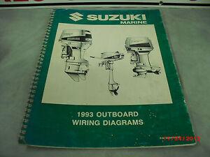 1993 SUZUKI Marine Wiring Diagram Manual 99954-53930 4-4-3 ...