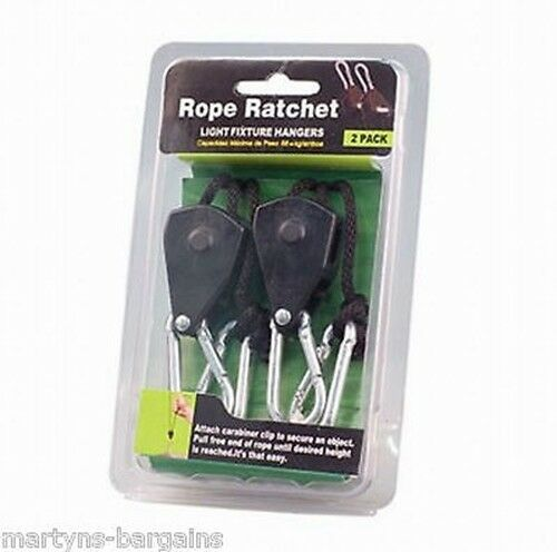 New Rope Ratchet Hangers for Lights Hydroponics Fans